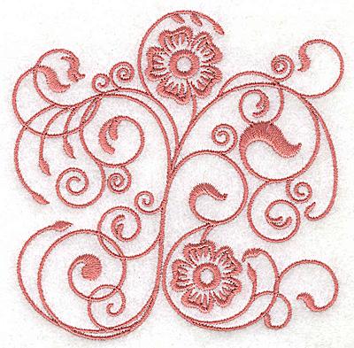 Embroidery Design: Floral design A small 3.85w X 3.81h