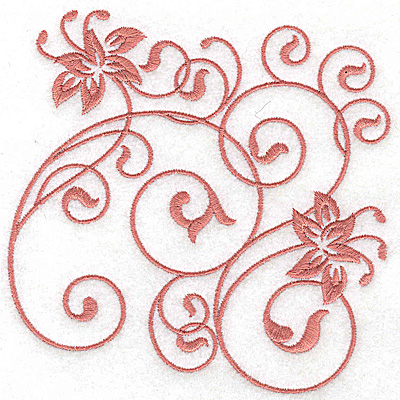 Embroidery Design: Floral design D large 4.93w X 4.95h