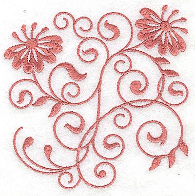 Embroidery Design: Floral design F small 3.86w X 3.83h