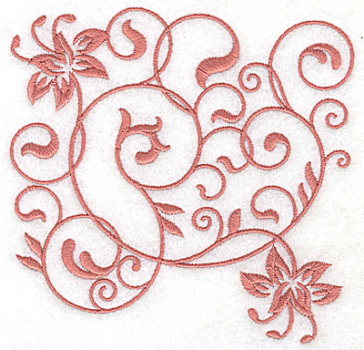 Embroidery Design: Floral design G large 4.98w X 4.93h
