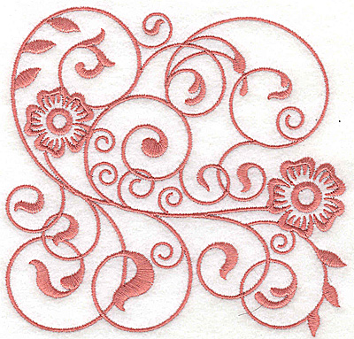Embroidery Design: Floral design I large 4.98w X 4.86h