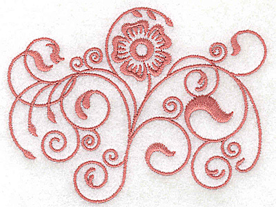 Embroidery Design: Floral design AA 3.85w X 2.89h