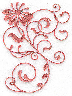 Embroidery Design: Floral design BB 2.84w X 3.87h