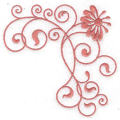 Embroidery Design: Floral design CC 3.88w X 3.85h
