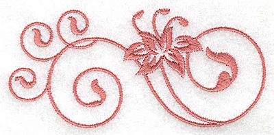 Embroidery Design: Floral design DD 3.88w X 1.81h