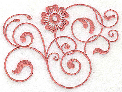 Embroidery Design: Floral design EE 3.86w X 2.86h