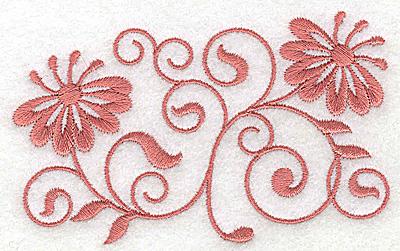 Embroidery Design: Floral design FF 3.86w X 2.36h