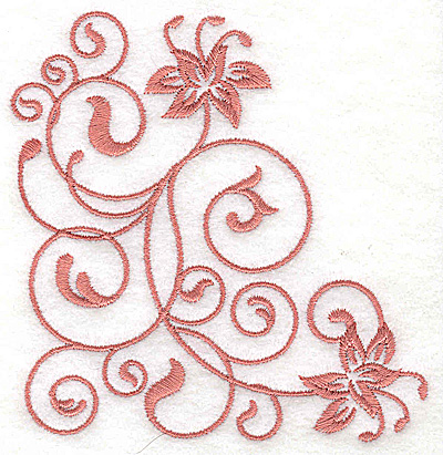 Embroidery Design: Floral design GG 3.87w X 3.86h