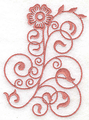 Embroidery Design: Floral design HH 2.77w X 3.86h