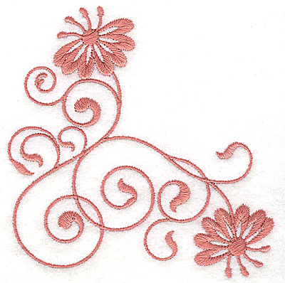 Embroidery Design: Floral design II 3.85w X 3.79h
