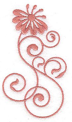 Embroidery Design: Floral design JJ 2.11w X 3.75h