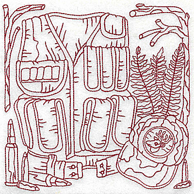 Embroidery Design: Hunters back pack and cap large 6.06w X 6.06h