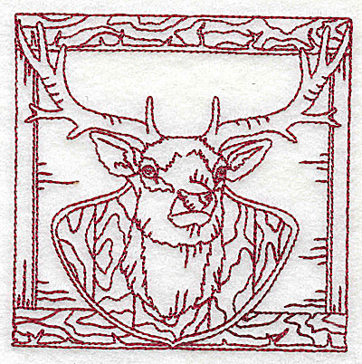 Embroidery Design: Mounted deer head small 3.81w X 3.81h