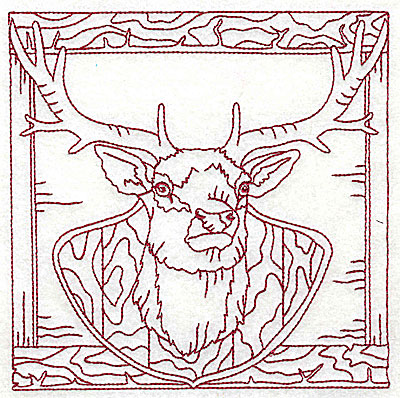 Embroidery Design: Mounted deer head large 6.12w X 6.12h