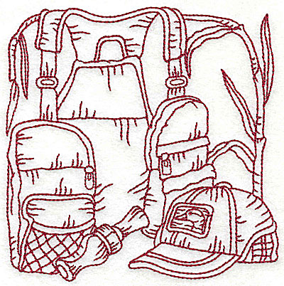 Embroidery Design: Duck Hunter scene 1 large 6.06w X 6.06h