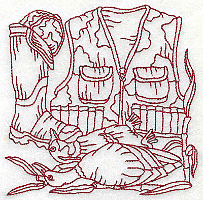Embroidery Design: Duck Hunter scene 10 medium 4.88w X 4.81h