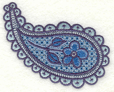 "Embroidery Design: Floral Paisley A Small 2.58"" x 3.24"""