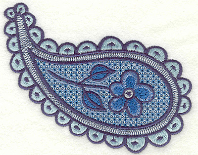 """Embroidery Design: Floral Paisley A Large4.13"""" x 5.19"""""""