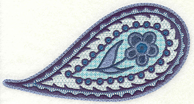 """Embroidery Design: Floral Paisley B Large 3.62"""" x 6.86"""""""