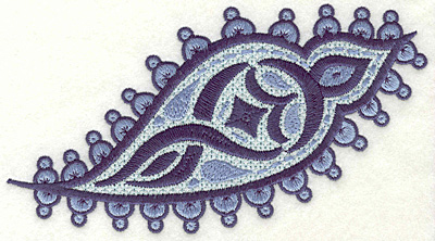 """Embroidery Design: Paisley D Large 3.90"""" x 6.94"""""""