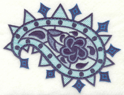 """Embroidery Design: Floral Paisley E Large 4.94"""" x 6.46"""""""