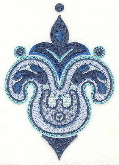 """Embroidery Design: Paisley F Large  6.75"""" x 4.66"""""""