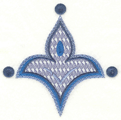 """Embroidery Design: Paisley G Large  4.47"""" x 4.51"""""""