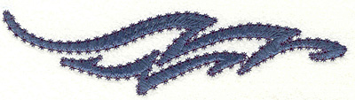 """Embroidery Design: Paisley Wave I Large 1.74"""" x 6.93"""""""