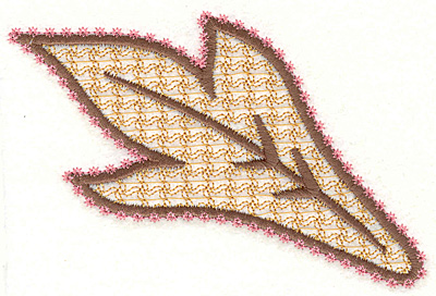 """Embroidery Design: Feather Paisley P Large  3.23"""" x 4.67"""""""