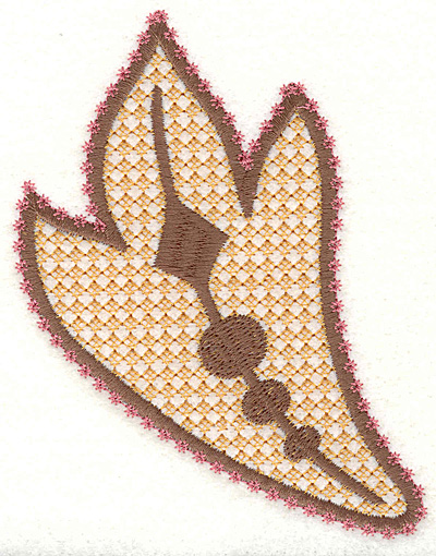 "Embroidery Design: Feather Paisley R Large 4.93"" x 3.70"""