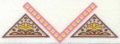 Embroidery Design: Paisley U large7.00w X 2.49h