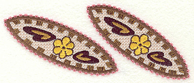 Embroidery Design: Floral Paisley V large6.53w X 2.84h