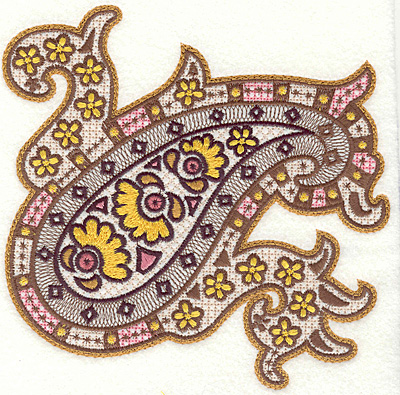 Embroidery Design: Lizard Paisley large7.21w X 6.99h