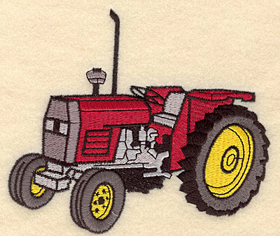Embroidery Design: Tractor D5.00w X 4.33h