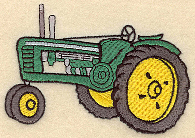 Embroidery Design: Tractor E5.00w X 3.34h