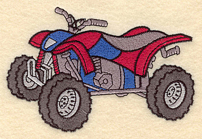 Embroidery Design: ATV5.00w X 3.35h