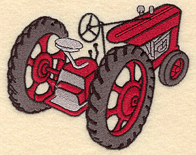 Embroidery Design: Tractor F4.82w X 3.88h