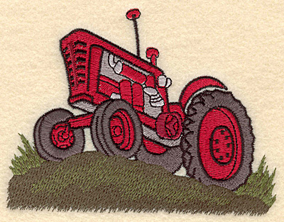 Embroidery Design: Tractor H5.00w X 3.83h