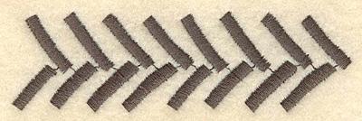 Embroidery Design: Tire track A3.90w X 1.17h