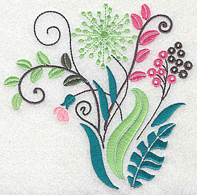 Embroidery Design: Dainty flowers 1A large 4.96w X 4.93h