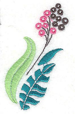 Embroidery Design: Dainty flowers 1B 1.72w X 3.09h