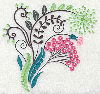 Embroidery Design: Dainty flowers 3A large 4.98w X 4.68h