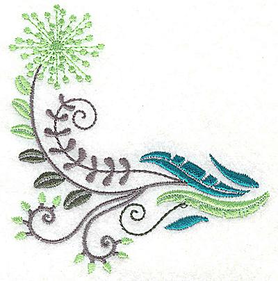 Embroidery Design: Dainty flowers 3B 3.66w X 3.89h