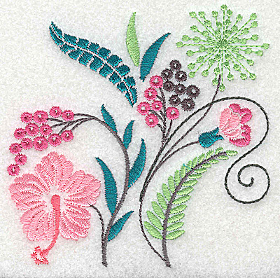 Embroidery Design: Dainty flowers 4A 3.87w X 3.88h