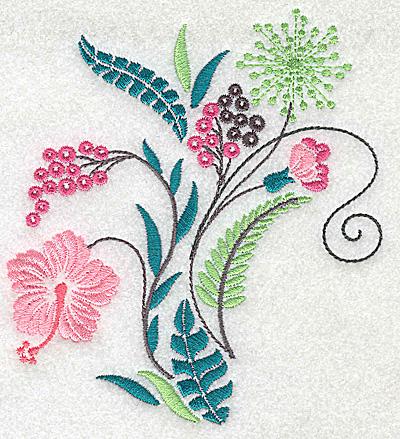 Embroidery Design: Dainty flowers 4B 4.43w X 4.94h