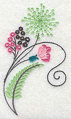 Embroidery Design: Dainty flowers 4C 2.32w X 4.15h