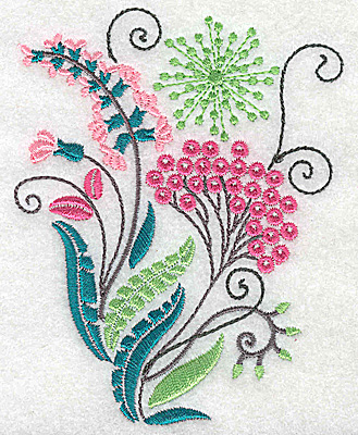 Embroidery Design: Dainty flowers 5A 3.45w X 4.45h