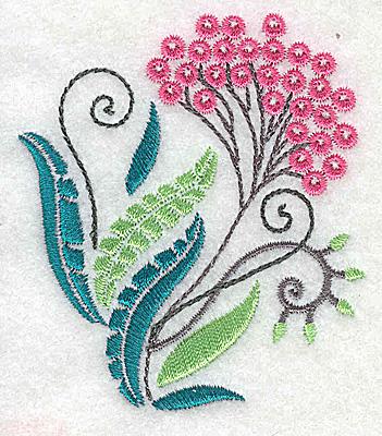 Embroidery Design: Dainty flowers 5C 2.69w X 3.09h
