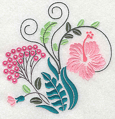 Embroidery Design: Dainty flowers 6A large 4.84w X 4.94h