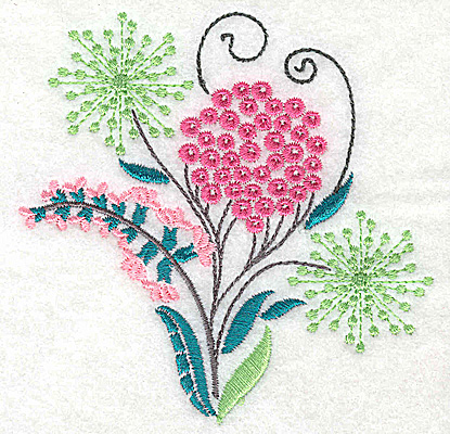 Embroidery Design: Dainty flowers 7A 3.88w X 3.88h
